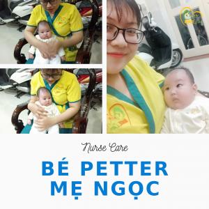 Các điều dưỡng viên của Nurse Care tiến hành dịch vụ tắm tại nhà cho Bé Petter - con của mẹ Bích