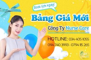 Nurse Care xin gửi đến quý khách bảng giá dịch vụ mới cho toàn bộ dịch vụ chăm sóc cho mẹ và bé!